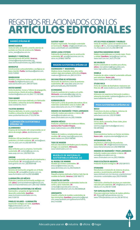 Especial De Construcci N Las P Ginas Verdes By Las Paginas  # Muebles Sustentables Df