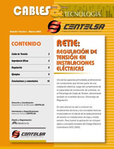 Tabla de amperaje de cables electricos centelsa