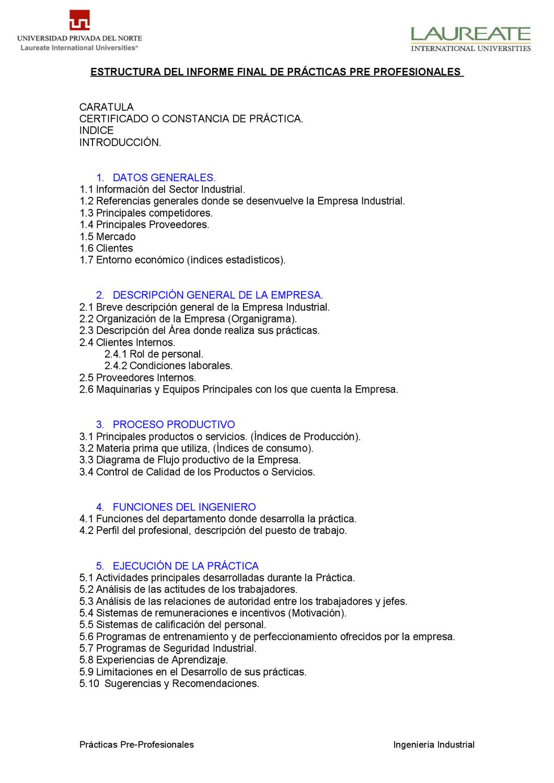 estructura del informe by Luis Eduardo Saldaña Miñano - issuu