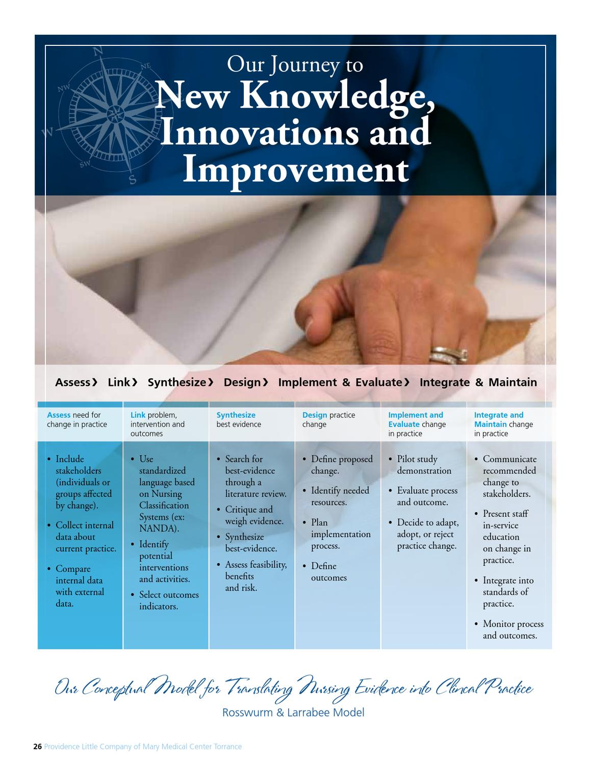 rosswurm and larrabee model for change Overview on evidence based nursing nursing essay will be helpful to promote the change process this model (rosswurm and larrabee, 2005) this model is.