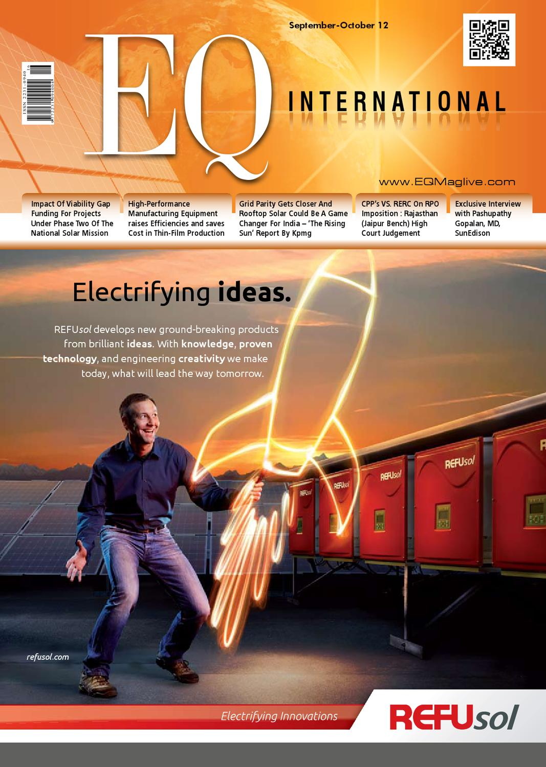 Eq September October 2012 Issue By Intl Solar Media Group Issuu Panel With Corrugated Thin Film Cells On Wiring Panels In