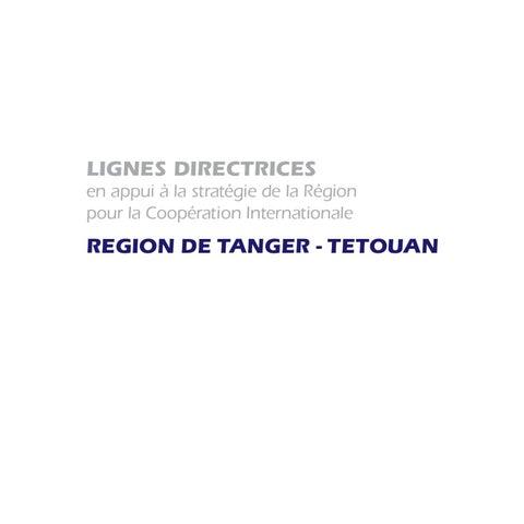 20c0714a2670da LIGNES DIRECTRICES en appui à la stratégie de la Région pour la Coopération  Internationale