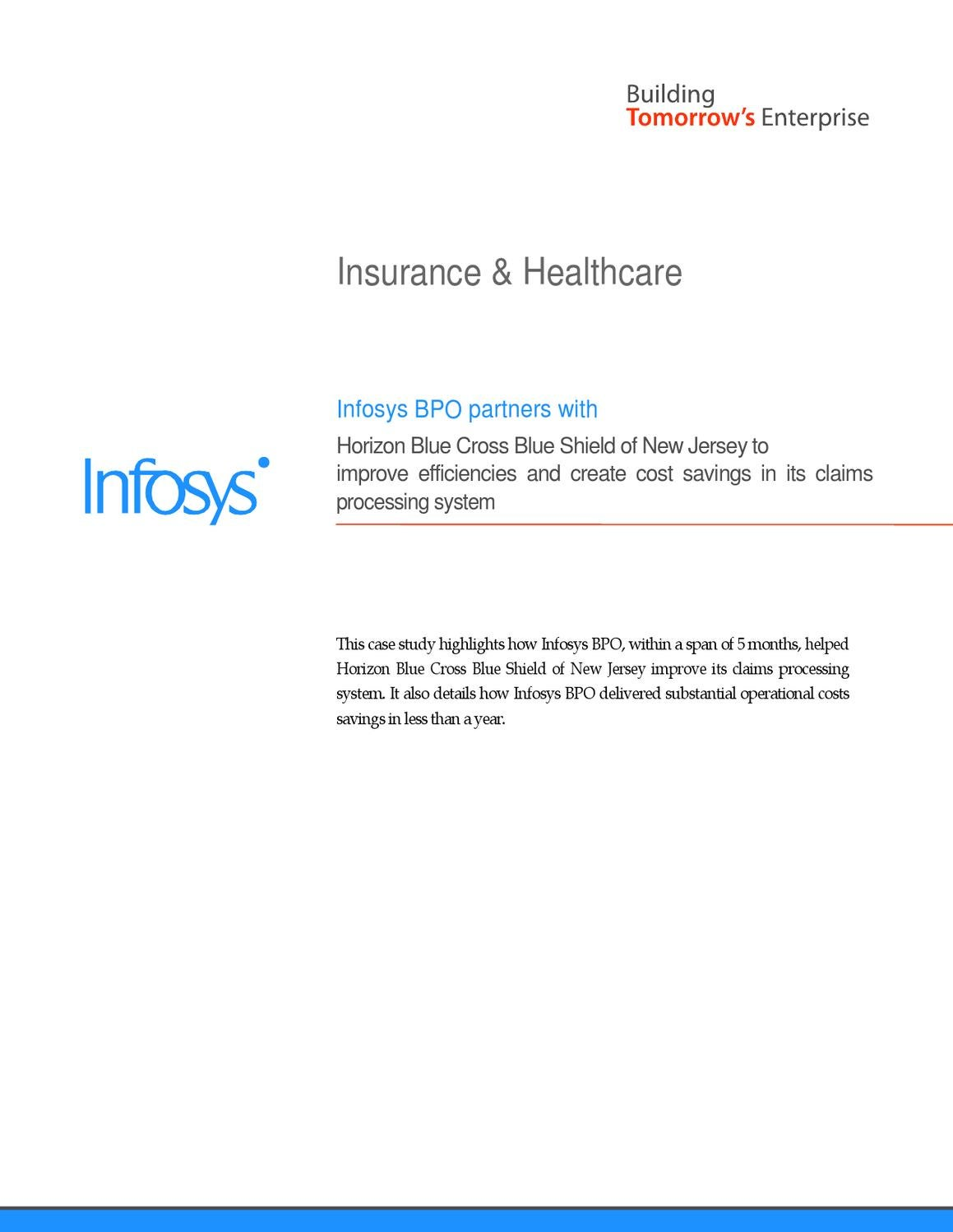 Infosys - Claims Processing System   BPO Services by Infosys