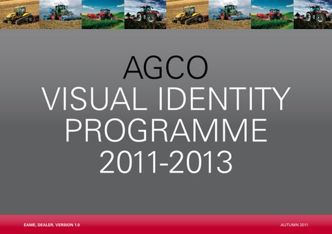 AGCO Brand Guidelines by Chandlers (Farm Equipment) Ltd - issuu