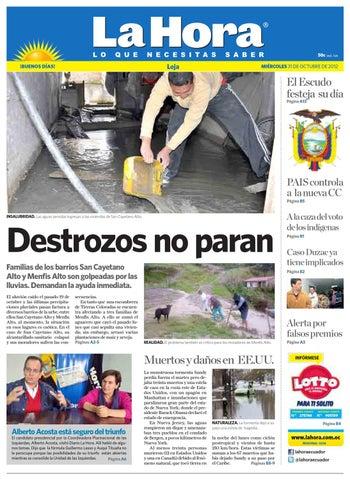 d820b36cd Diario La Hora Loja 31 de Octubre 2012 by Diario La Hora Ecuador - issuu