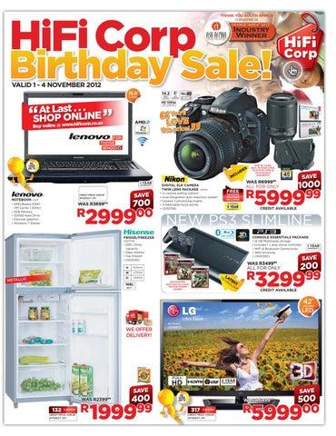 Hifi Corp Birthday Sales 1 4 November 2012 By