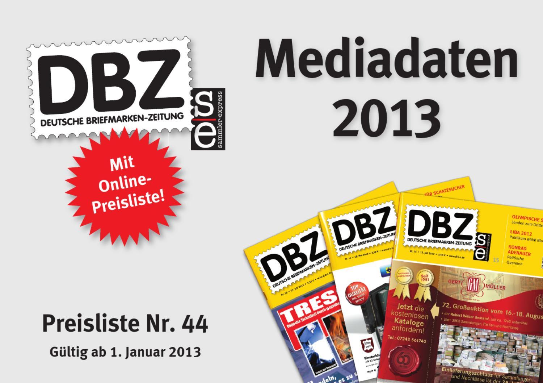 Dbz Mediadaten 2013 By Dirk Rosenplänter Issuu