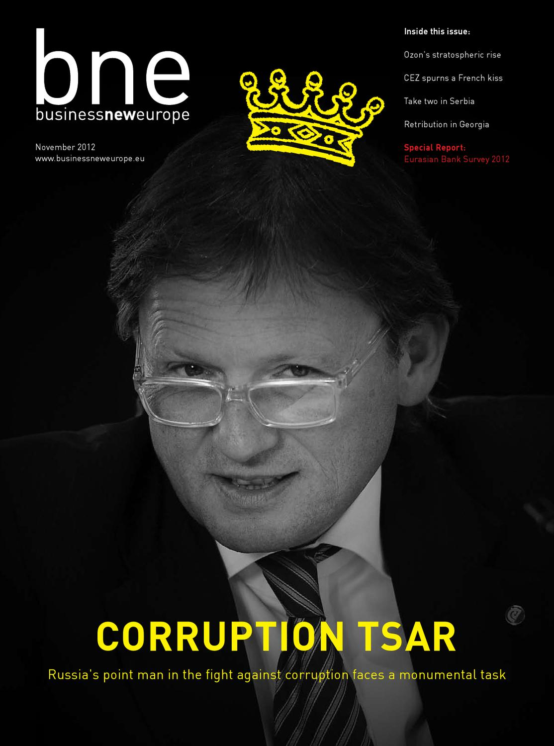Business New Europe November 2012 edition by Ben Aris - issuu