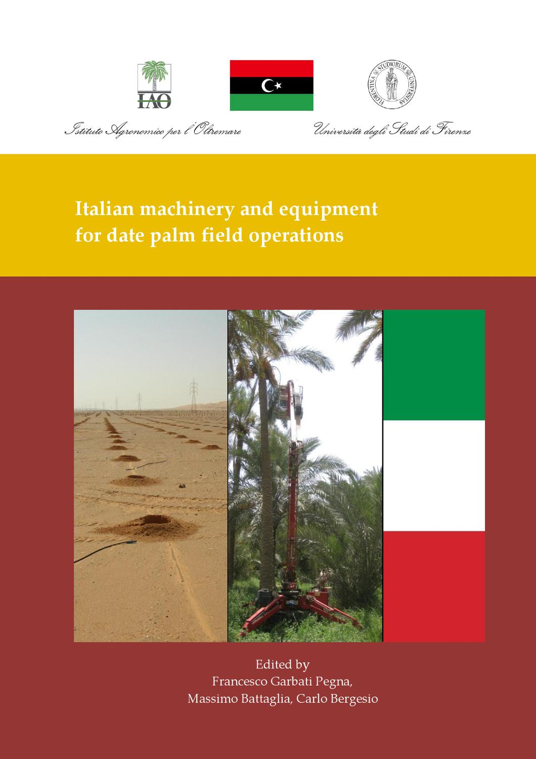 Italian machinery and equipment for date palm field