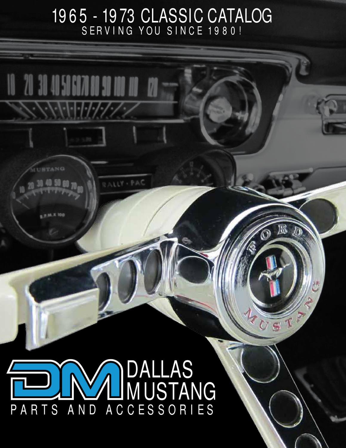 Dallas mustang classic parts catalog by tommie runner issuu