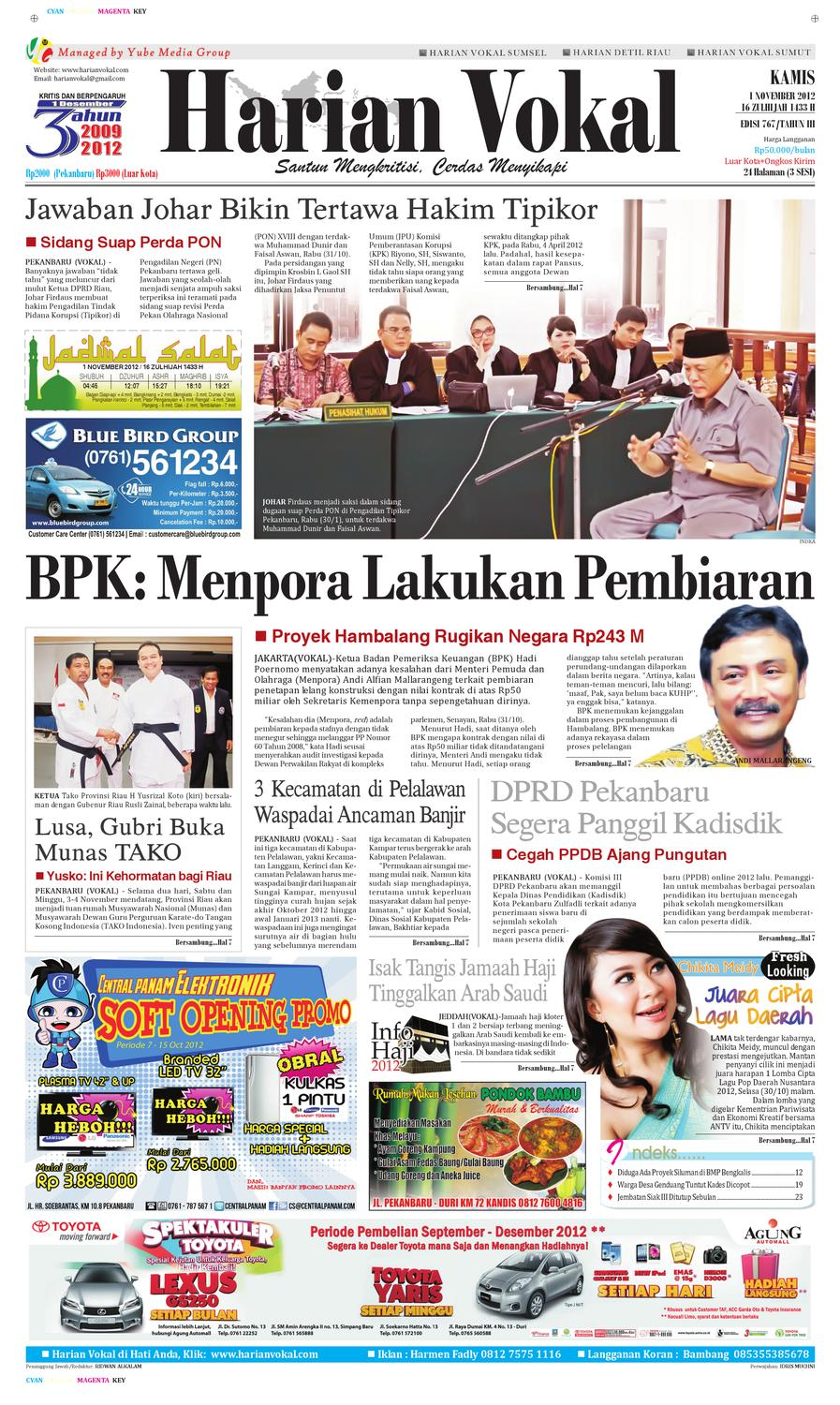Harian Vokal Edisi 1 November 2012 by Riau Publisher - issuu 222280cb00