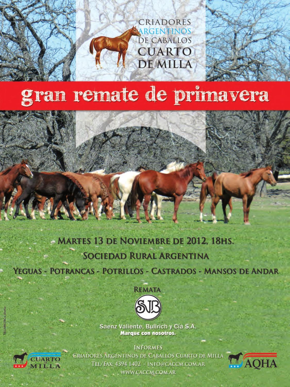 Remate Primavera Cuarto de Milla 2012 by Tallarico Vero - issuu