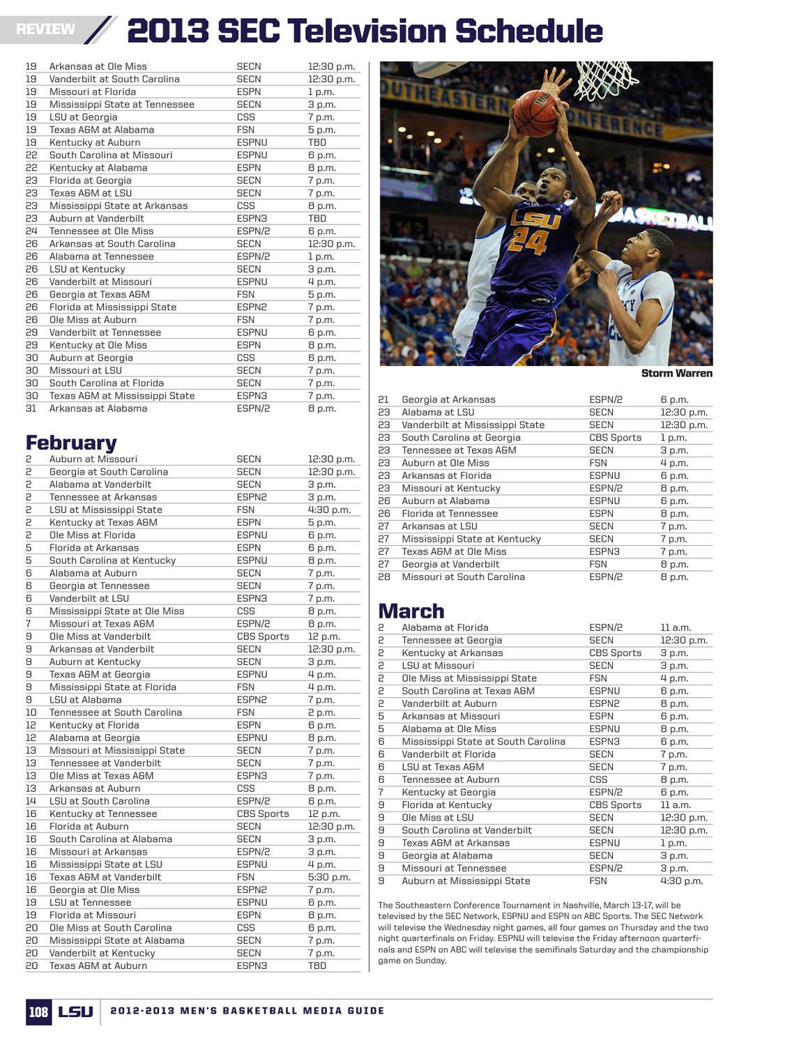 2012-13 LSU Men's Basketball Media Guide