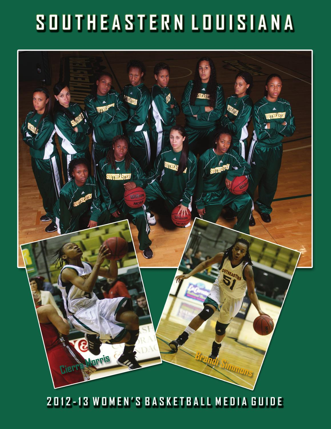 2012-13 Southeastern Women's Basketball Media Guide by Southeastern  Louisiana University Athletics - issuu