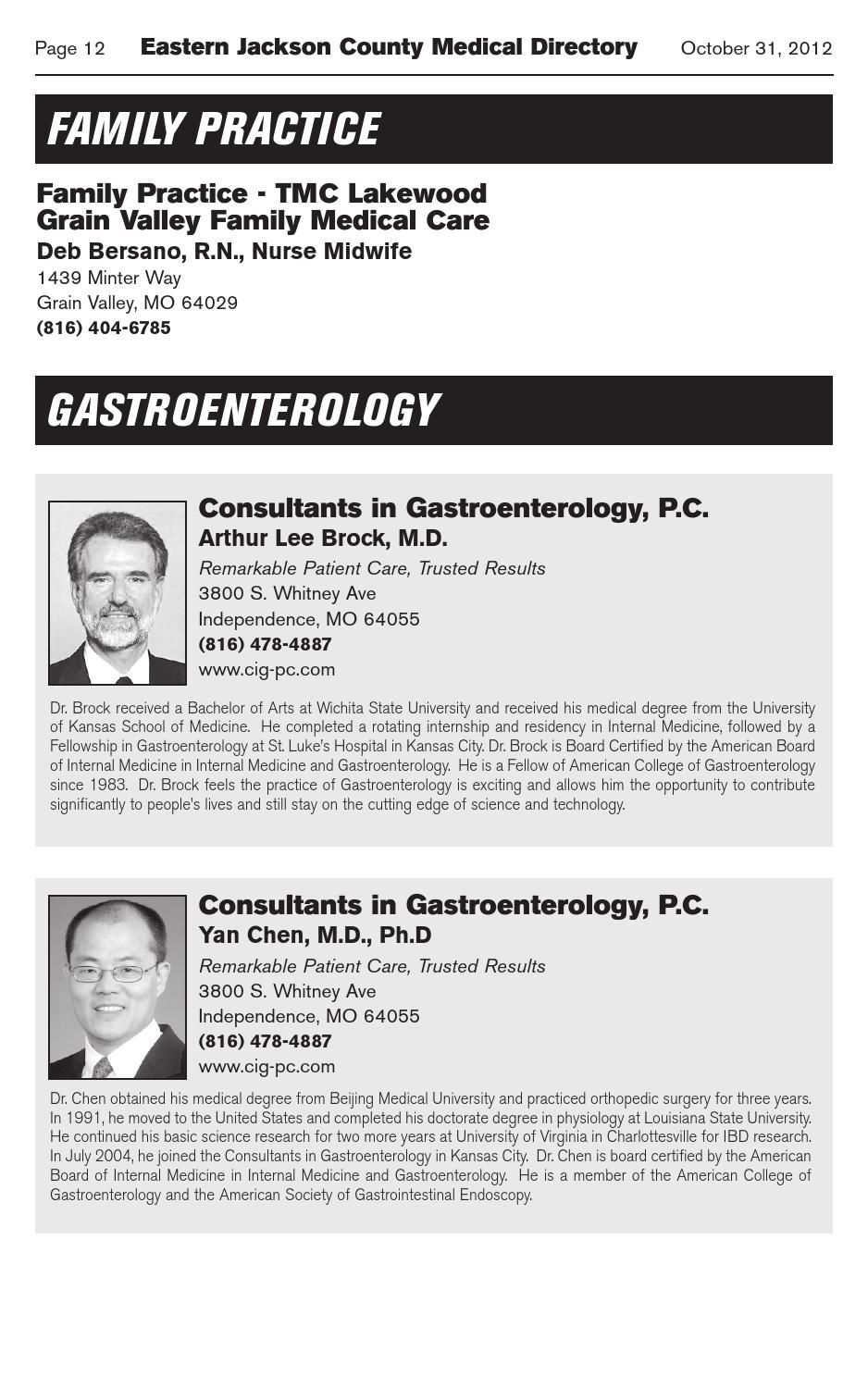 Eastern Jackson County Medical Directory 2012-13 by The