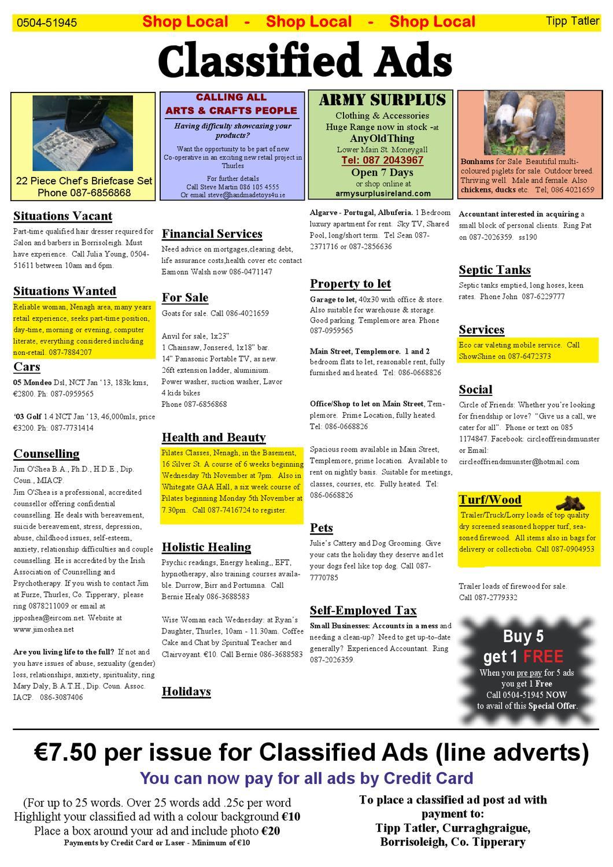 Tipp Tatler Issue 195 Nov 2012 by Tipp Tatler - issuu