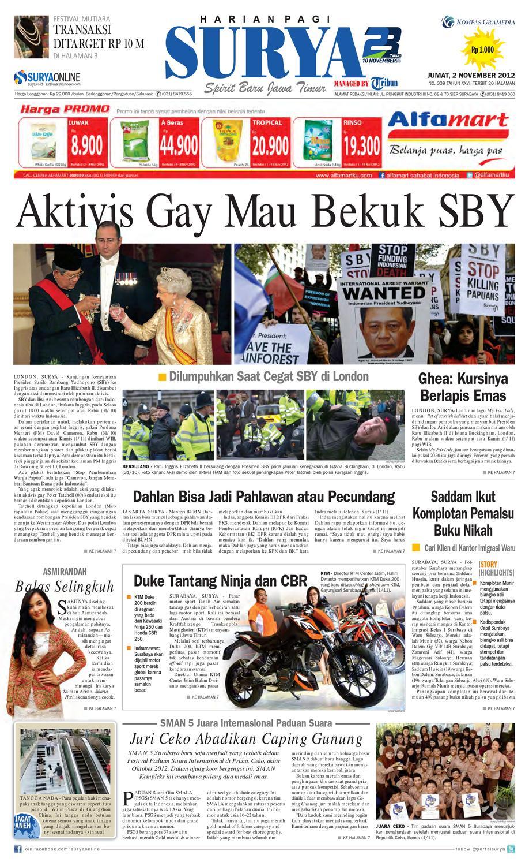 E Paper Surya Edisi 2 November 2012 By Harian Issuu Fcenter Lemari Pakaian Wd Hk 1802 Sh Jawa Tengah