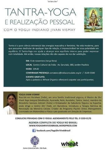 Palestra Tantra Yoga by Embaixada da India - issuu