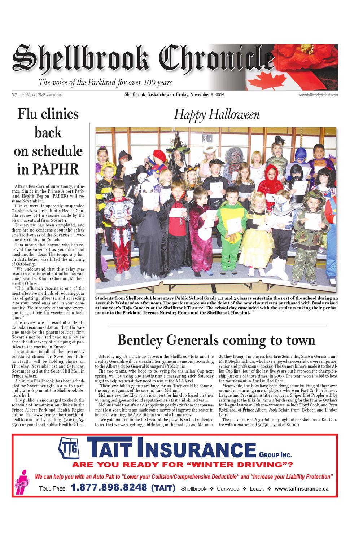 shellbrook chronicle november 2nd by city media