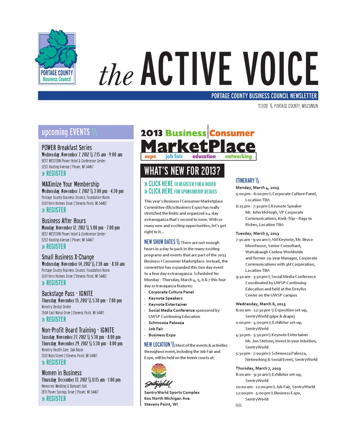 11 2012 The Active Voice Pcbc By Portage County Business Council
