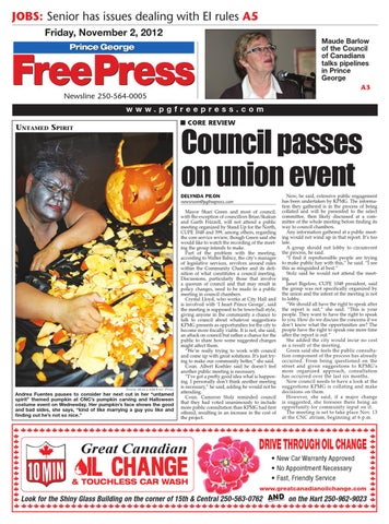 Nov  2, 2012 Prince George Free Press by Prince George Free