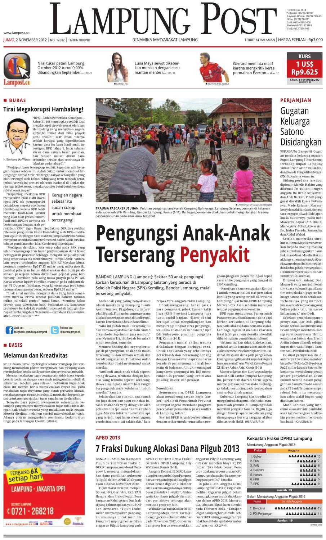 Lampungpost 02 November 2012 By Lampung Post Issuu