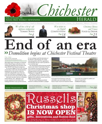 37c36910555 Chichester Herald Issue 61 2nd November 2012 by Chichester Herald ...