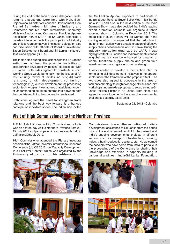 Sandesh- Aug- Sept by First Secretary(P&I) - issuu