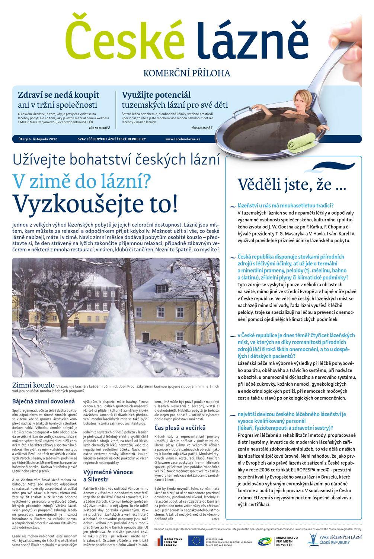 c20a027a74b5 Lidové noviny - Komerční příloha o lázeňství č.3 by Arkadia - issuu