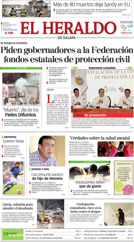 Heraldo de Xalapa 02nov2012 by Carlos Arturo Sanchez - issuu