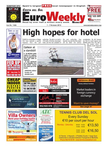842da8afea25c Costa del Sol 1 - 7 November 2012 Issue 1426 by Euro Weekly News ...