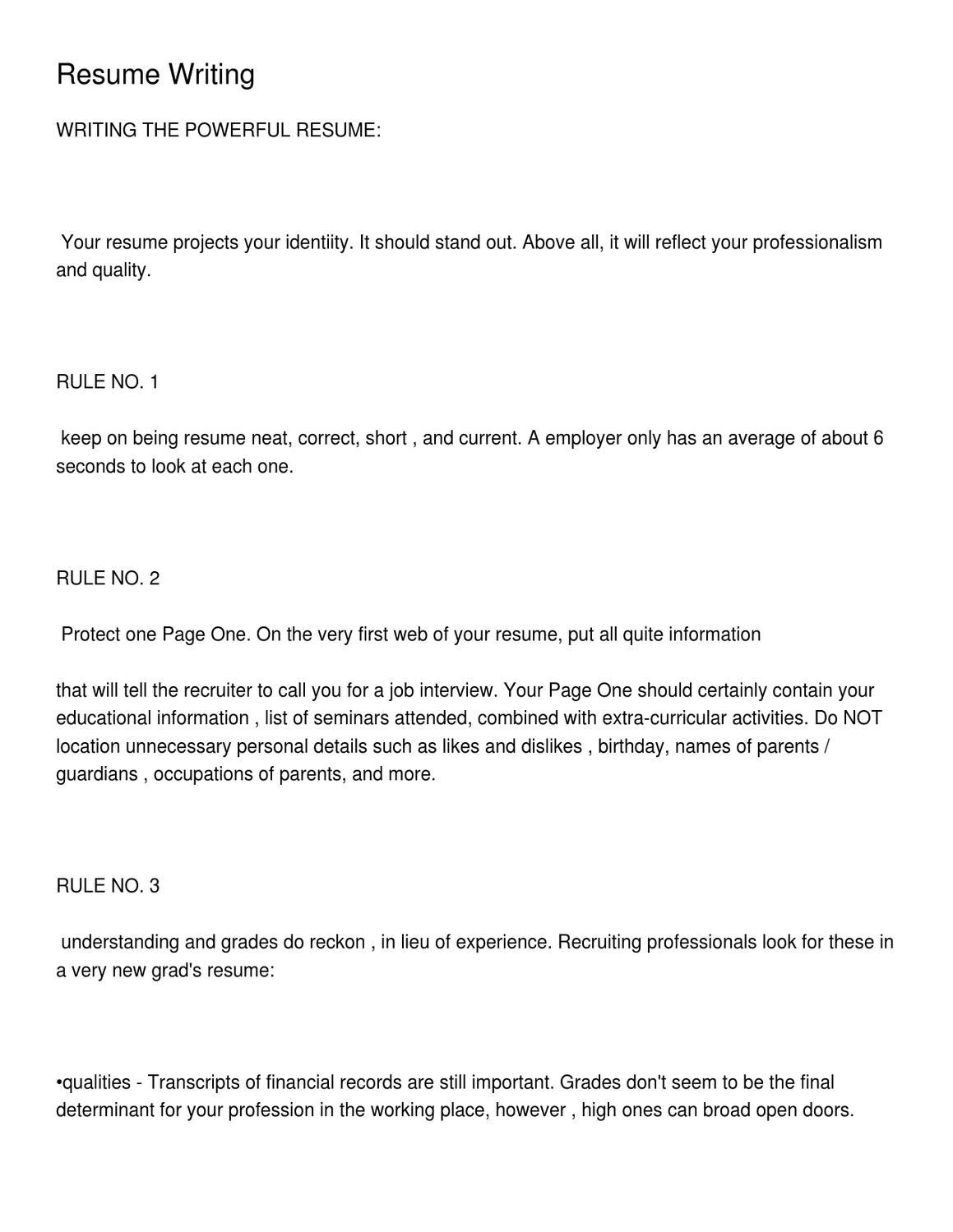 Resume Writing by Thomas Smith - issuu