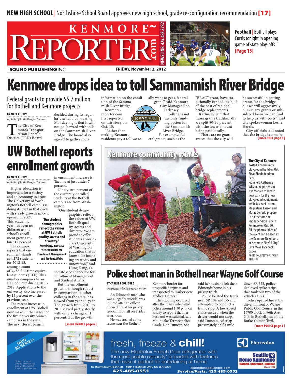 Bothell/Kenmore Reporter, November 02, 2012 by Sound