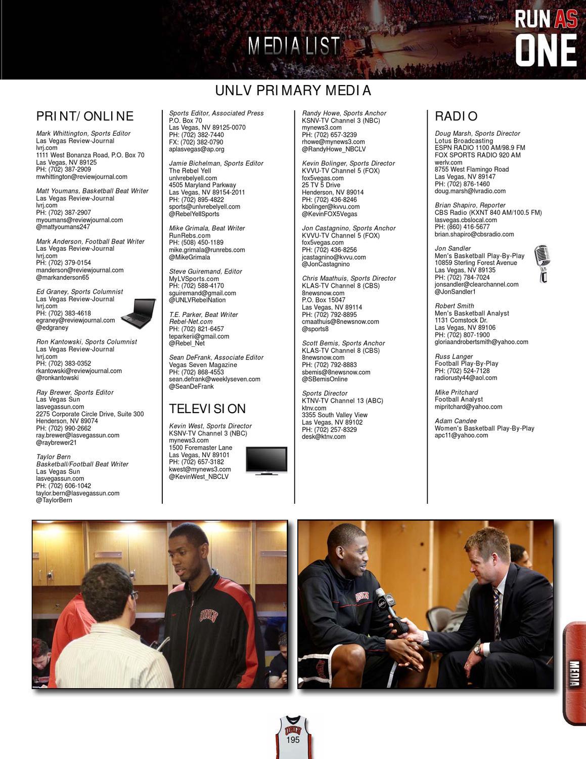 2012-13 UNLV Men's Basketball Media Guide by UNLV Sports