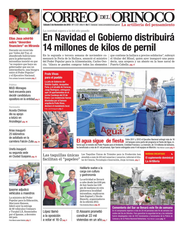 Edición Nº 1.137 by Correo del Orinoco - issuu