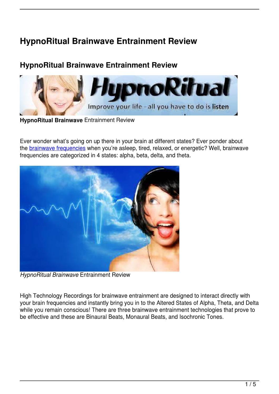 HypnoRitual Brainwave Entrainment Review by Melissa Smithay