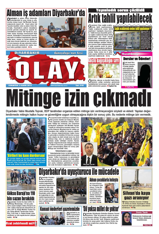 03 11 2012 Gazete Sayfalari By Diyarbakir Olaygazetesi Issuu