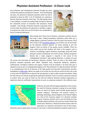 Physician Assistant Programs California >> What Should I Look For In A Physician Assistant Programs In