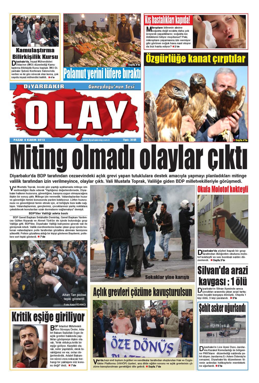 04 11 2012 Gazete Sayfalari By Diyarbakir Olaygazetesi Issuu