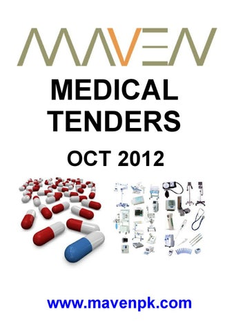 Medical Tenders Oct 2012 By Maven Issuu
