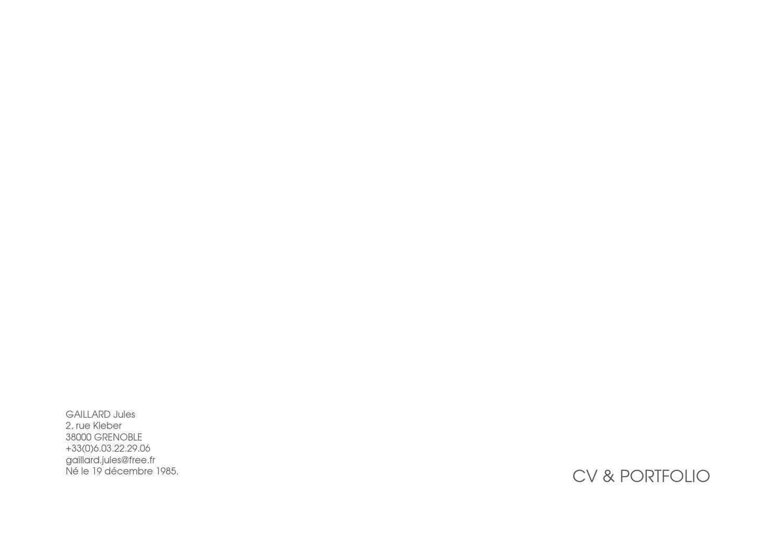 portfolio 2010-2012 by jules gaillard