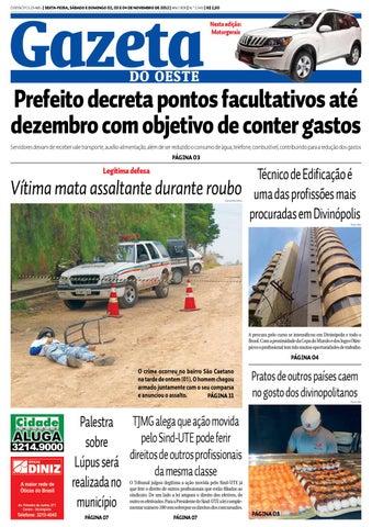 7d832836f4 Gazeta do Oeste by Dacio Fernandes - issuu