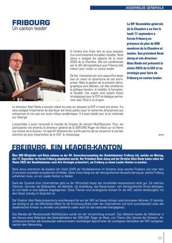 Echo magazine octobre 2012 by chambre de commerce et d for Chambre de commerce fribourg