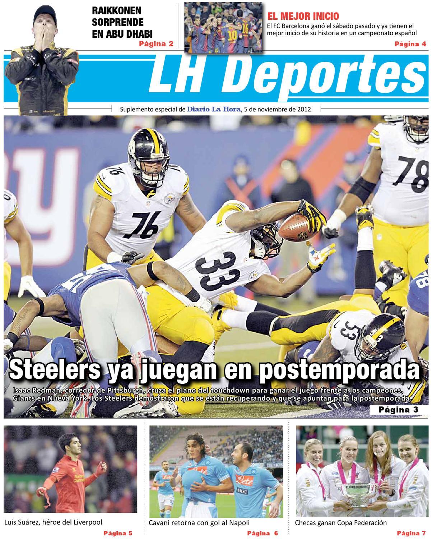 22e58b50fe27d Suplemento Deportivo 05-11-2012 by La Hora - issuu