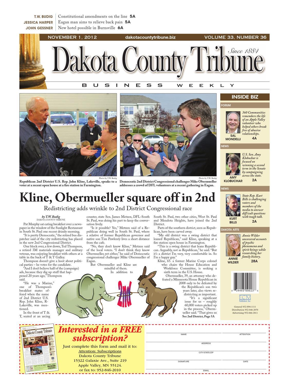 11/1/2012 - dakota county tribune business weekly by dakota county