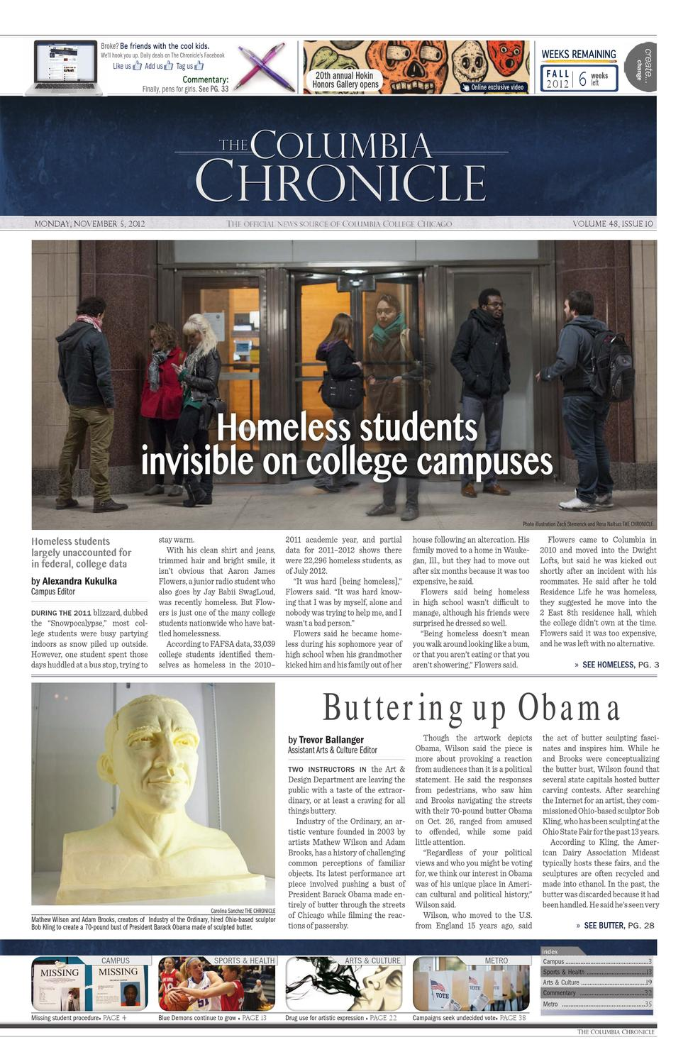 The Columbia Chronicle November 5, 2012 by The Chronicle of Columbia ...