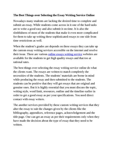 To Kill A Mockingbird Persuasive Essay The Best Things Over Selecting The Essay Writing Service Online Nowadays  Many Students Are Lacking The Desired Time To Complete And Submit An Essay How To Write A Essay Introduction also Essay Literacy The Best Things Over Selecting The Essay Writing Service Online By  Help Me With My Essay