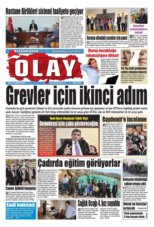 06 11 2012 Gazete Sayfalari By Diyarbakir Olaygazetesi Issuu