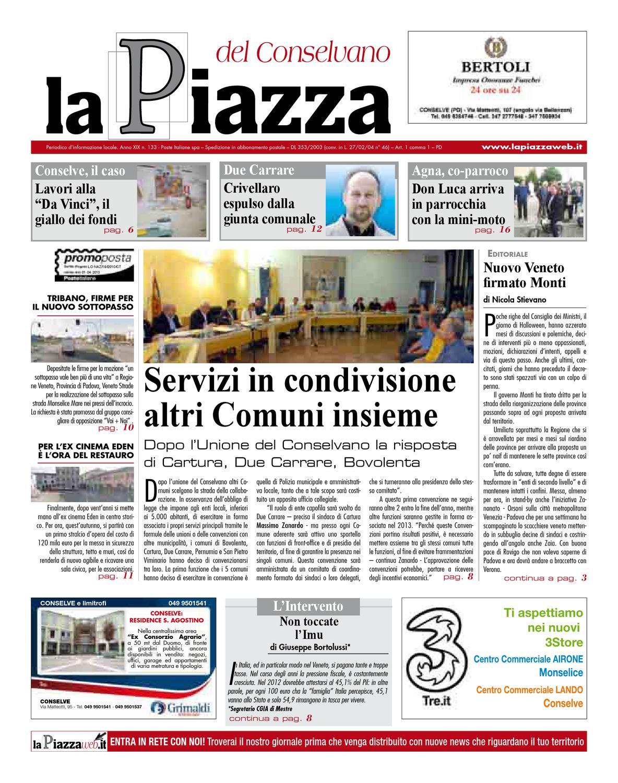 La Piazza del Conselvano - 2012ott n133 by lapiazza give emotions - issuu 763ea14d6e2