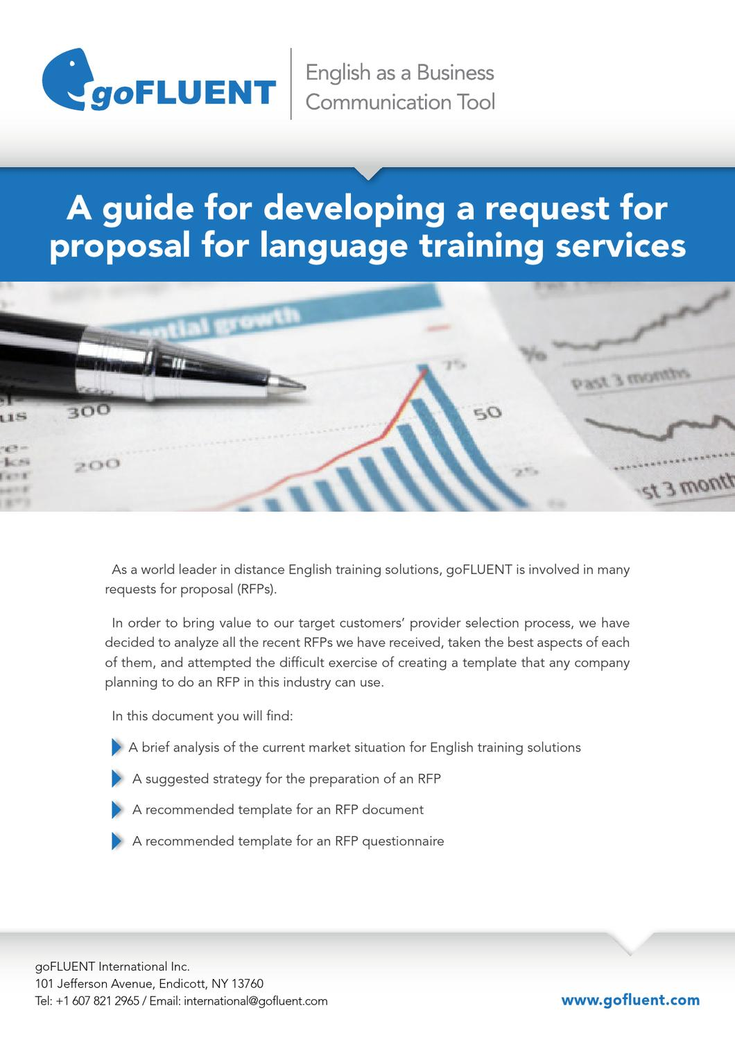Gofluent A Guide For Developing A Request For Proposal For